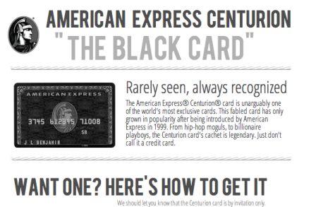 Amex Black Centurion Card - All Things Finance